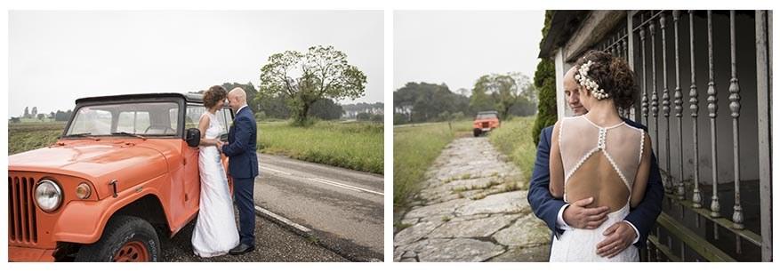 Fotógrafo de bodas en Asturias. Irene Cazón. Boda en naranja en Navia. Postboda