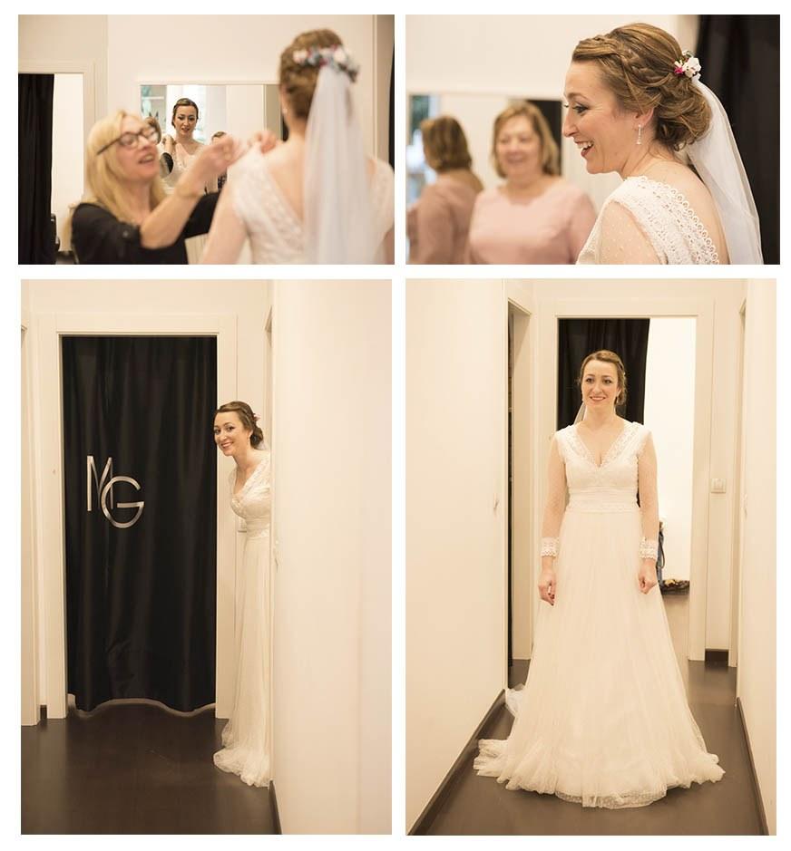 prueba de vestido por Irene Cazón. Fotógrafa de bodas en Asturias