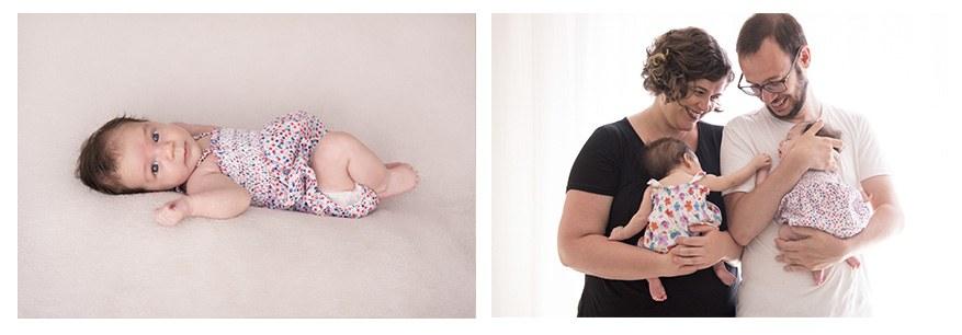 Sesión con mellizas.Fotografía de bebés y familia en Gijón.