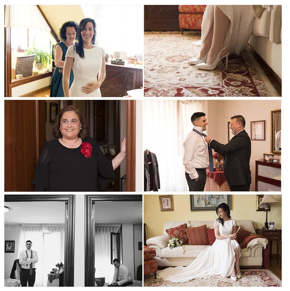 reportaje de boda completo desde los preparativos: Irene Cazón