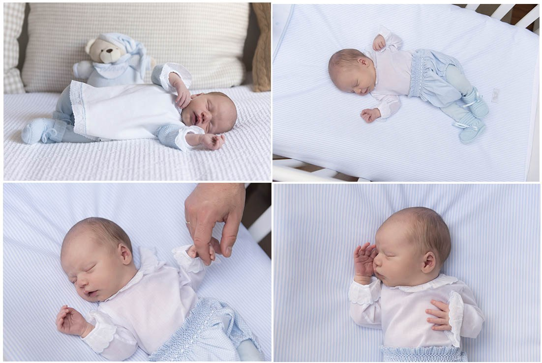 Sesión de recién nacido a domicilio. Fotógrafa de bebés en Gijón