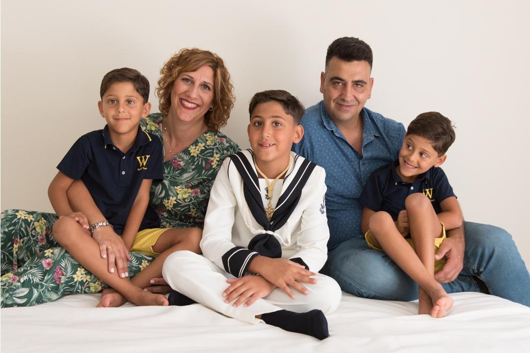 Fotografía de familia en Gijón. Irene Cazón