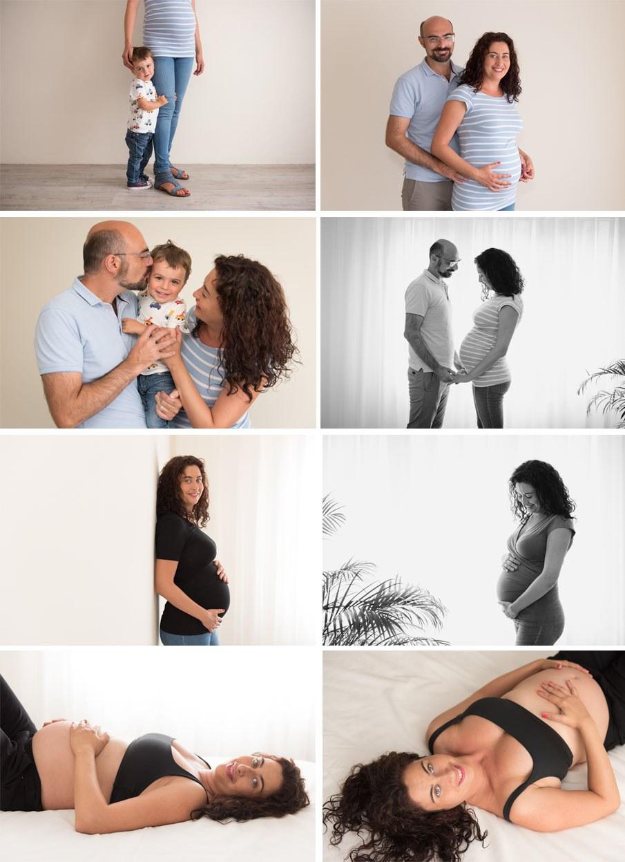 Sesión de fotos premamá en estudio - Fotógrafo de bebés en Gijón - Irene Cazón